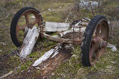 Remains of a wagon Royalty Free Stock Photography