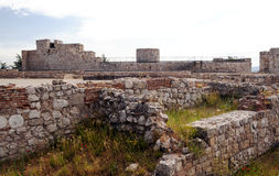 Remains of the walls of the castle Royalty Free Stock Images