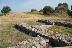 Remains of the walls of Troy Royalty Free Stock Photography