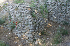 Remains of the walls of Troy. Possibly Priam's city of the Iliad, . Turkey Stock Photography