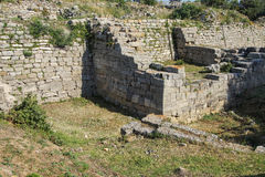 Remains of the walls of Troy. Possibly Priam's city of the Iliad, . Turkey Royalty Free Stock Photography