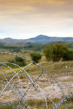 Remains of War. Barbed wire in afterwar Croatia Royalty Free Stock Image