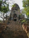 Wat Banan near Battambang, Cambodia. Remains of the Wat Banan Buddhist temple near Battambang, Cambodia royalty free stock image