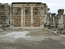 Remains of white synagogue, Capernaum Stock Images