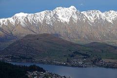 Remakables и Queenstown от гондолы, Новая Зеландия стоковая фотография