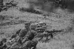 Remake da batalha preto e branco Imagem de Stock Royalty Free