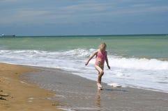 Remando dal litorale Fotografia Stock