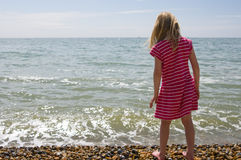 Remando dal litorale Fotografie Stock