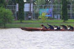 Remando nel fiume, la Tailandia Immagine Stock