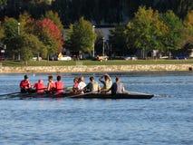 Remando sul fiume Potomac Immagini Stock Libere da Diritti
