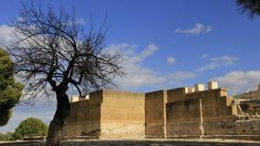 remanesça Palácio do lugar histórico de Knossos fotografia de stock royalty free