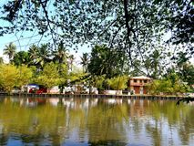 Remanso Kerala foto de archivo