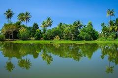 Remansos de Kerala Fotografía de archivo libre de regalías