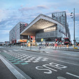 Remarkable new built modern Lille Europe railway station Royalty Free Stock Images