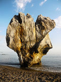 Remarkable Rock Formation Coast Stock Photo