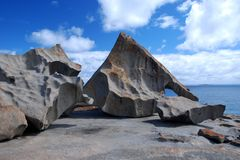 Remarkable Rocks. Formation of lava stones in Kangaroo Island, South Australia Royalty Free Stock Photo
