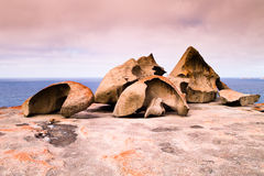 Remarkable Rocks, Australia. The famous 'Remarkable Rocks' site, one of the most known tourism attractions in Kangaroo island, Australia Stock Photography