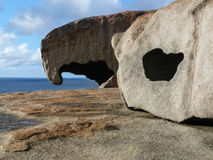 Remarkable Rocks. The Breakaways granite formation in SE Kangaroo Island, Australia Royalty Free Stock Photography