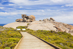 Remarkable Rocks on Kangaroo Island, South Australia. Boardwalk to the Remarkable Rocks on Kangaroo Island, South Australia Royalty Free Stock Images