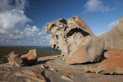 Remarkable Rocks, in the southern part of the Flinders Chase National Park. stock photography