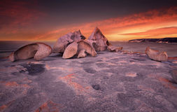 Remarkable Sunset. Remarkable Rocks in Kangaroo Island, South Australia Royalty Free Stock Photography