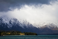 The Remarkables mountain range, New Zealand Royalty Free Stock Photo