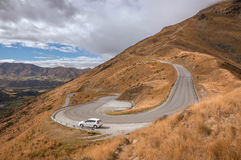 Road to The Remarkables skifield. Royalty Free Stock Photos