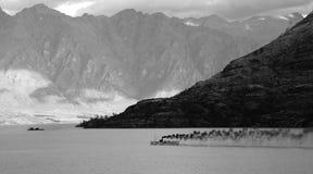 remarkables neufs s raboteux la zélande du sud de région d'otago de montagnes d'île Photo libre de droits