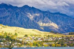 The Remarkables - Queenstown, New Zealand stock photos