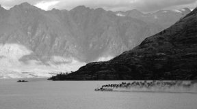 Steamboat on Lake Wakatipu royalty free stock photo