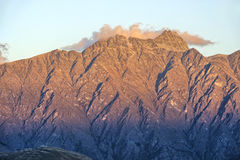 The Remarkables and weather station, New Zealand Royalty Free Stock Image