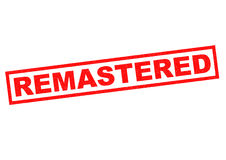 REMASTERED. Red Rubber Stamp over a white background Stock Image
