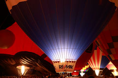 Remax Balloon at the Glow. Balloon glow at The Great Forest Park Balloon race in St. Louis Royalty Free Stock Images