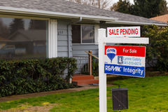 ReMax Integrity For Sale Sign Pending Royalty Free Stock Images