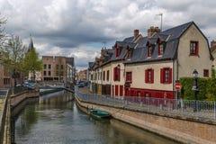 Remblai à Amiens, France Photos stock
