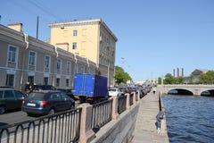 Remblai de canal de Fontanka Image stock