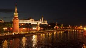 Remblai de Kremlin à Moscou Russie banque de vidéos