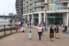 Remblai de Londres Images libres de droits