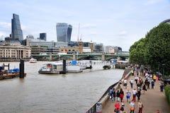 Remblai de Londres Photo stock