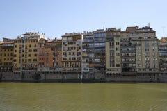 Remblai de rivière d'AMO à Florence Photos libres de droits