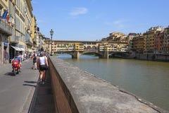 Remblai de rivière d'AMO à Florence Images libres de droits