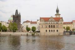 Remblai de rivière de Vltava image stock