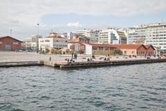 Remblai de ville Salonique images libres de droits