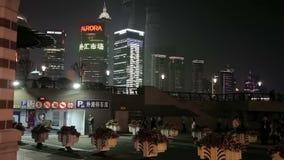 Remblai de Waitan de Changhaï banque de vidéos