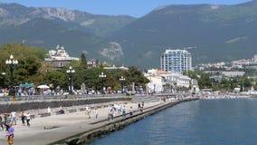 Remblai de Yalta crimea banque de vidéos