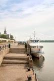 Remblai du fleuve Ienisseï Photographie stock