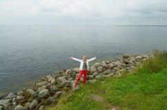Remblai du golfe de Finlande photographie stock libre de droits