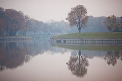 Remblai du lac Supérieur Kaliningrad Photos libres de droits