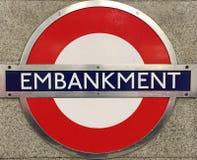 Remblai Londres de station Image libre de droits