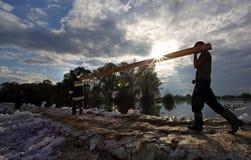 Remblai pour l'inondation images libres de droits